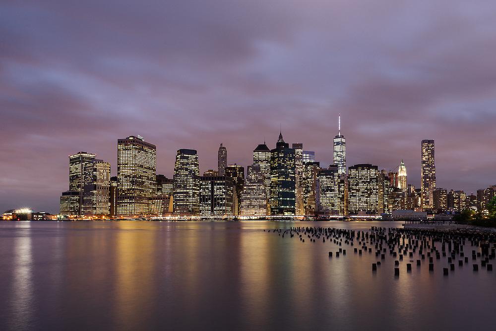 Lower Manhattan Dusk<br /> From Brooklyn