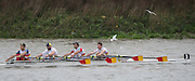 Hammersmith, Greater London, UK. Tideway Scullers School I, competing in the Elite M4X at the 2015 Fours Head of the River Race, River Thames [ opposite Chiswick Eyot]  Saturday  07/11/2015 <br /> <br /> [Mandatory Credit: Peter SPURRIER: Intersport Images]