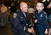 Laconia Police Chief Christopher A. Adams' swearing in ceremony at Pitman's Freight Room in Laconia May 31, 2011.Laconia Police Chief Christopher A. Adams' swearing in ceremony at Pitman's Freight Room in Laconia May 31, 2011.  Karen Bobotas/for the Laconia Daily Sun