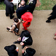 Spectators at The Royal Meeting Race meeting, Royal Ascot. England, UK. June 16-20th, 2009. Photo Tim Clayton