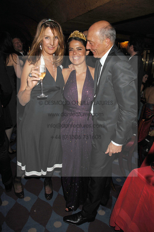 Left to right, KATE SIMON, DANIELLA HELAYEL and PETER SIMON at a dinner hosted by fashion label Issa at Annabel's, Berekely Square, London on 24th April 2007.<br />