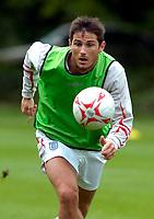 Photo: Richard Lane.<br />England Training Session. 22/05/2006.<br />Frank Lampard during training.