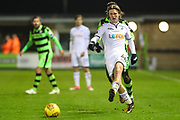 Swansea City's George Byers during the EFL Trophy match between Forest Green Rovers and U21 Swansea City at the New Lawn, Forest Green, United Kingdom on 31 October 2017. Photo by Shane Healey.