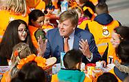 Veghel , 21-04-2017 <br /> <br /> King Willem-Alexander and Queen Maxima attend the King's Games in Veghel<br /> <br /> <br /> COPYRIGHT: ROYALPORTRAITS EUROPE/ BERNARD RUEBSAMEN