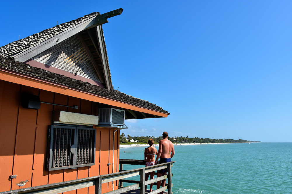 Concession Stand on Pier in Naples, Florida<br />