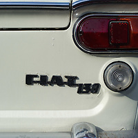 PADOVA, ITALY - OCTOBER 27:  A traditional Fiat logo is  seen on a vintage car on display on October 27, 2011 in Padova, Italy. The Vintage and Classic Cars Exhibition of Padova, running from the October 28 - 30, is the most important European trade show for vintage cars and motorbikes, showcasing over 1600 vehicles.