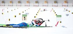 20.01.2011, Südtirol Arena, Antholz, ITA, IBU Biathlon Worldcup, Antholz, Sprint Men, im Bild Andrei Makoveev (RUS) // Andrei Makoveev (RUS) during IBU Biathlon World Cup in Antholz, Italy, EXPA Pictures © 2011, PhotoCredit: EXPA/ J. Feichter