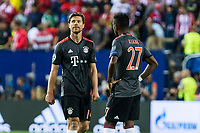Bayern Munich's Xabi Alonso and David Alaba during the match of Group stage of Champions League Atletico de Madrid and Bayern Munich at Vicente Calderon Stadium in Madrid. September 28, 2016. (ALTERPHOTOS/Rodrigo Jimenez)
