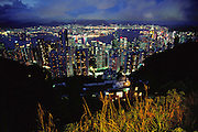 Hong Kong cityscape from Victoria Peak.