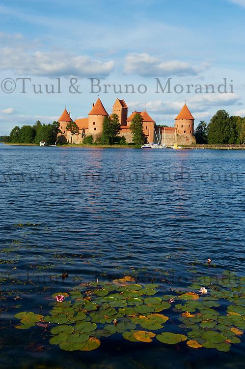 Lituanie (pays baltes), comté de Vilnius, parc national historique de Trakai, le château de l'île (Salos Pilis) // Lithuania (Baltic Countries), Island Castle of Trakai near Vilnius