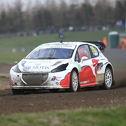 Dumfries based Supercar driver Andy Scott won convincingly. First round of the British Rallycross Championship held at Croft Circuit. (c) Matt Bristow | SportPix.org.uk
