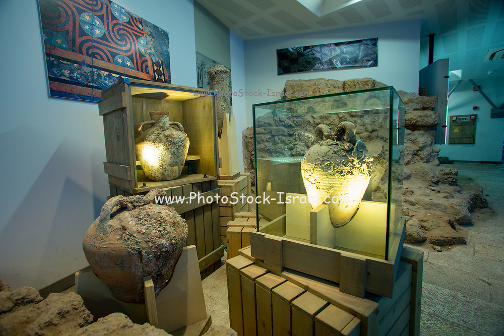 Interior of the Old Jaffa Visitor's centre museum, Old Jaffa, Israel