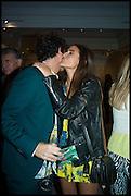MAX WEILAND; EMMA SHENKMAN, Sotheby's Frieze week party. New Bond St. London. 15 October 2014.