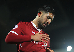 Emre Can of Liverpool after missing a goal scoring opportunity - Mandatory by-line: Jack Phillips/JMP - 18/11/2017 - FOOTBALL - Anfield - Liverpool, England - Liverpool v Southampton - English Premier League