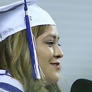 Howard Salutatorian Berenice Espinoza give Salutatorian address to students, family and friends comprised of 186 students during Howard High School of Technology 146th commencement exercises Thursday, June 04, 2015, at The Bob Carpenter Sports Convocation Center in Newark, Delaware.