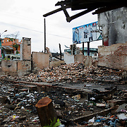 May 15, 2013 - Meiktila, Myanmar: Damaged buildings are seen in a Muslim quarter, which was razed by Buddhists in ethnic violence in March, in Meikhtila, central Myanmar. CREDIT: Paulo Nunes dos Santos