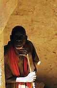 An elder in the Moussoukourare village mosque, Saharan desert