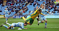 Coventry - Saturday, March 8th, 2008: Michael Doyle of Coventry City fouls Lee Croft of Norwich City on the edge of the penalty area during the Coca Cola Championship match at the Ricoh Arena, Coventry. (Pic by Paul Hollands/Focus Images)