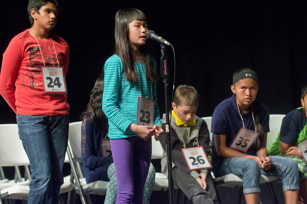 New Mexico Spelling Bee 2017, Sandia Prep, Albuquerque, N.M., Saturday, March 18, 2017.<br /> (Marla Brose/Albuquerque Journal)