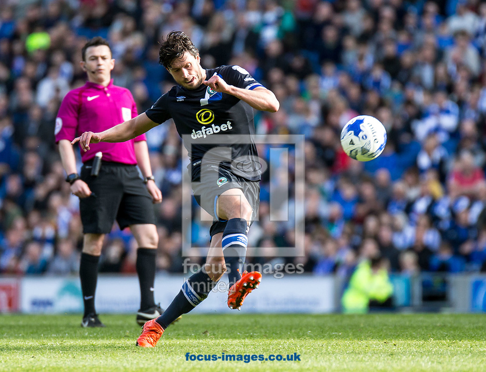 Jason Lowe of Blackburn Rovers during the Sky Bet Championship match at the American Express Community Stadium, Brighton and Hove<br /> Picture by Liam McAvoy/Focus Images Ltd 07413 543156<br /> 01/04/2017