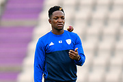 Fidel Edwards of Hampshire warming up before the second day of play in the Specsavers County Champ Div 1 match between Hampshire County Cricket Club and Essex County Cricket Club at the Ageas Bowl, Southampton, United Kingdom on 28 April 2018. Picture by Graham Hunt.