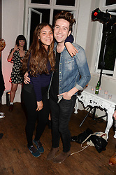 MIQUITA OLIVER and NICK GRIMSHAW at the Carrera Ignition Night at The House of St.Barnabas, Soho, London on 20th June 2013.