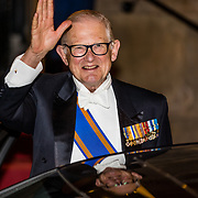 NLD/Amsterdam//20170523 - Koningspaar bij het diner Corps Diplomatique, Pieter van Vollenhoven