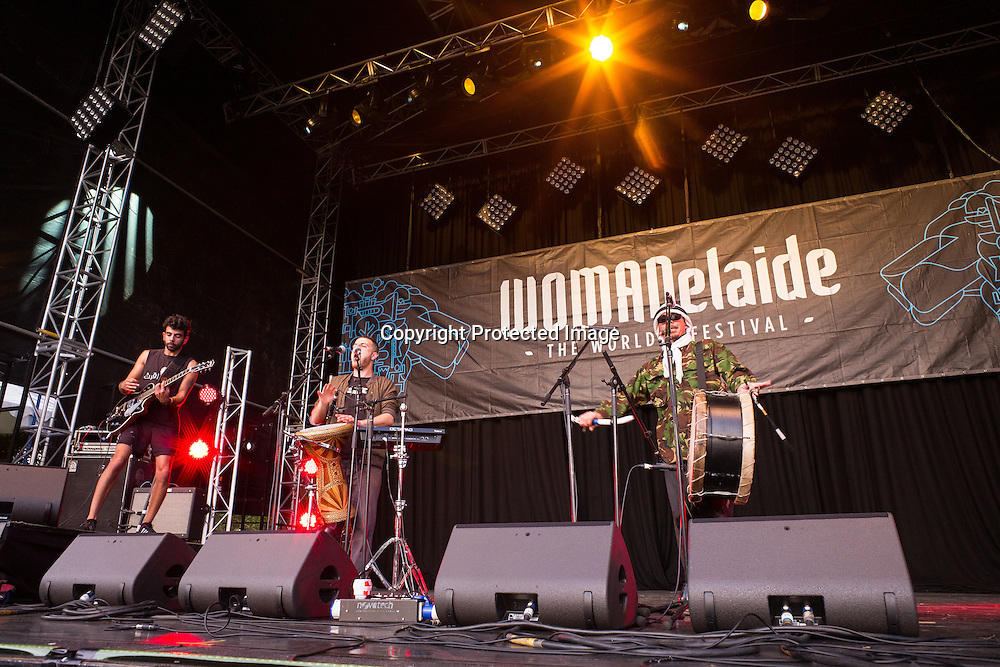 47SOUL a Palestinian band playing at Womadelaide 2016 Music Festival held between 11 - 14 March 2016 in Adelaide, South Australia