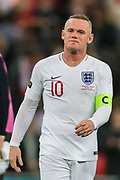 Wayne Rooney (England) following the international Friendly match between England and USA at Wembley Stadium, London, England on 15 November 2018.