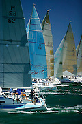 Saturday Yacht Racing on Lake Macquarie, NSW, Australia