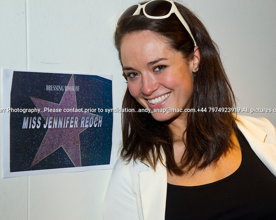 23:05:2012.Miss scotland 2012 -The Final.. Jennifer Reoch arrives at her 'star' dressing room...Pic:Andy Barr.07974 923919  (mobile).andy_snap@mac.com.All pictures copyright Andrew Barr Photography. .Please contact before any syndication. .