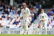 Ben Foakes of Surrey batting during the Specsavers County Champ Div 1 match between Surrey County Cricket Club and Kent County Cricket Club at the Kia Oval, Kennington, United Kingdom on 7 July 2019.