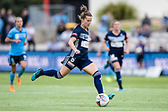 SYDNEY, AUSTRALIA - NOVEMBER 17: Melbourne Victory defender Haley Hanson dribbles the ball during the round 1 W-League soccer match between Sydney FC Women and Melbourne Victory Women on November 17, 2019 at Netstrata Jubilee Stadium in Sydney, Australia. (Photo by Speed Media/Icon Sportswire)