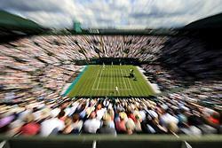 3 July 2017 -  Wimbledon Tennis (Day 1) - Rafael Nadal v John Millman - An abstract general view (GV) of Court 1 - Photo: Marc Atkins / Offside.