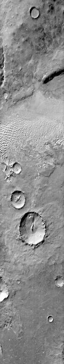 A group of dunes in Aonia Terra. THEMIS.
