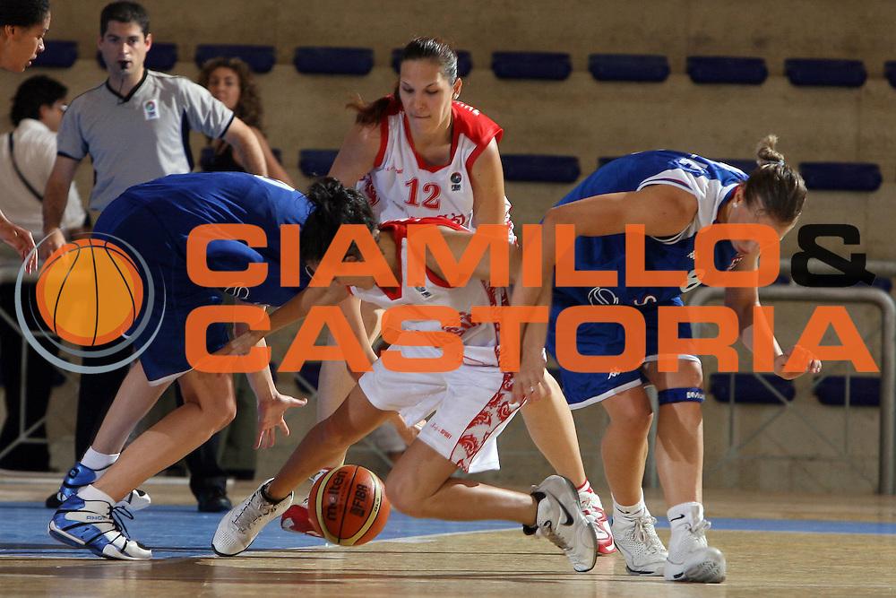 DESCRIZIONE : Pescara U20 European Championship Women Semifinal Serbia Russia<br /> GIOCATORE : Natalia Zhedik Iva Roglic<br /> SQUADRA : Serbia Russia<br /> EVENTO : Pescara U20 European Championship Women Semifinal Serbia Russia Campionato Europeo Femminile Under 20 Semifinale Serbia Russia<br /> GARA : Serbia Russia<br /> DATA : 19/07/2008 <br /> CATEGORIA :<br /> SPORT : Pallacanestro <br /> AUTORE : Agenzia Ciamillo-Castoria/E.Castoria<br /> Galleria : Europeo Under 20 Femminile <br /> Fotonotizia : Pescara U20 European Championship Women Semifinal Serbia Russia<br /> Predefinita :
