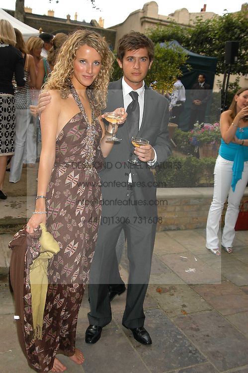 KATE MELHUISH and JACK FREUD at the Tatler Summer Party in association with Moschino at Home House, 20 Portman Square, London W1 on 29th June 2005.<br /><br />NON EXCLUSIVE - WORLD RIGHTS