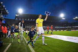 20.10.2011, Jan-Breydel Stadion, Bruegge, BEL, UEFA EL, Gruppe H, FC Bruegge (BEL) vs Birmingham City (ENG), im Bild Birmingham City's Steven Caldwell walks out to face Club Brugge during the UEFA Europa League Group H match at the Jan Breydelstadion // during UEFA Europa League group H match between FC Bruegge (BEL) vs Birmingham City (ENG), at Jan-Breydel Stadium, Brugge, Belgium on 20/10/2011. EXPA Pictures © 2011, PhotoCredit: EXPA/ Propaganda Photo/ David Rawcliff +++++ ATTENTION - OUT OF ENGLAND/GBR+++++