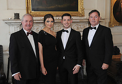 Pictured at the Mis-Summer Banquet at Westport Food Festival at Wesport House on friday last were Cathal Hughes, Inara Zowers, Ronan Scott, and Vincent Hughes.<br />Pic Conor McKeown.