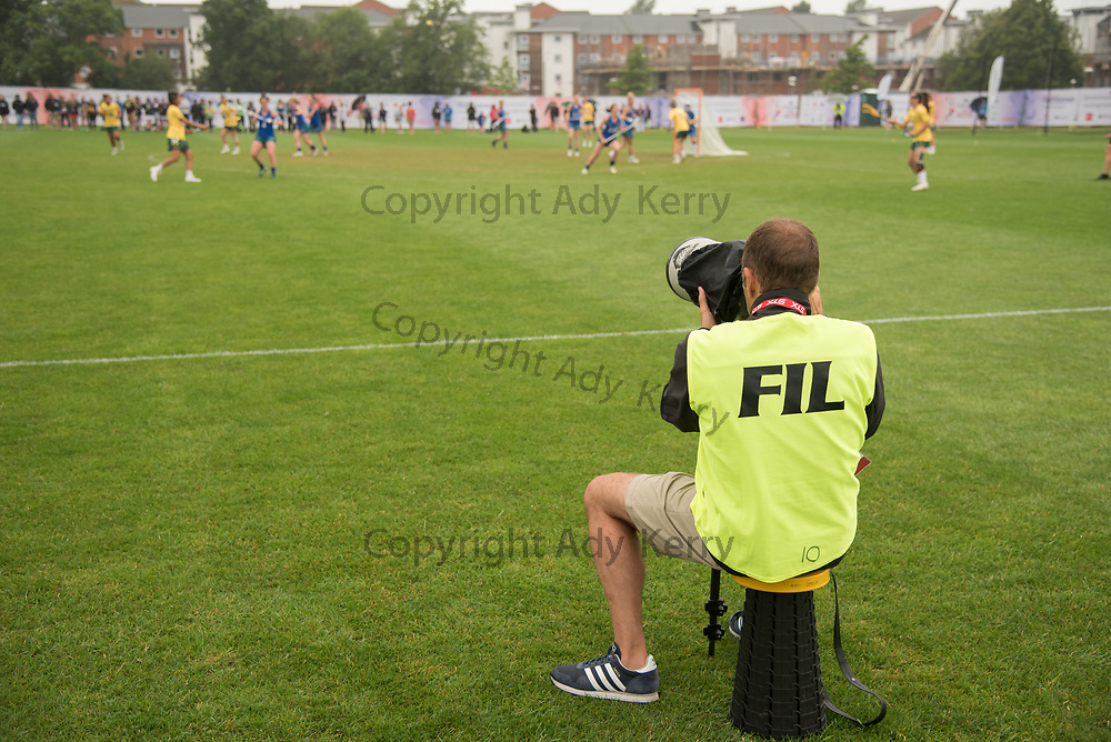 Photographer at the 2017 FIL Rathbones Women's Lacrosse World Cup at Surrey Sports Park, Guilford, Surrey, UK, 15th July 2017