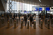 Ticket barriers at Rotterdam Central railway station, Netherlands