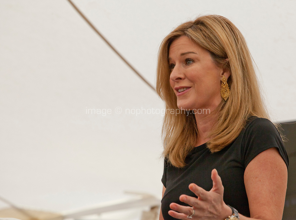 Television and radio presenter Andrea Catherwood at the 'Truth Matters: Media in an Age of Fake News' discussion at the Dalkey Book Festival, Dalkey, County Dublin, Ireland, Saturday 17th June 2017. Photo credit: Doreen Kennedy