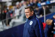 KIELCE, POLEN 2017-06-16<br /> Aidy Boothroyd under UEFA U21 matchen mellan Sverige och England p&aring; Arena Kielce den 16 juni, 2017.<br /> Foto: Nils Petter Nilsson/Ombrello<br /> Fri anv&auml;ndning f&ouml;r kunder som k&ouml;pt U21-paketet.<br /> Annars Betalbild.<br /> ***BETALBILD***