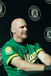 New A's third base coach Matt Williams signs autographs during Oakland Athletics FanFest at Jack London Square on Saturday, Jan. 27, 2018 in Oakland, Calif. (D. Ross Cameron/SF Chronicle)