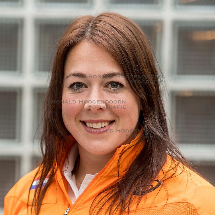 22-03-2017 NED: Teampresentatie EK Atletiek Indoor, Arnhem<br /> Melissa Boekelman tijdens de teampresentatie van het atletiek EK indoor op Papendal.