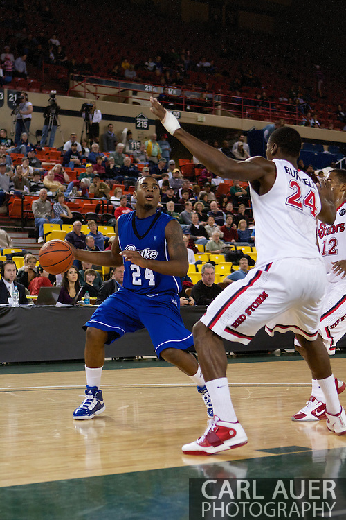 November 26th, 2010:  Anchorage, Alaska - Drake Bulldog freshman guard Rayvonte Rice (24) in the Bulldog's loss to St. Johns at the Great Alaska Shootout.  The Red Storm defense held Drake to a tournament low score as St. Johns advanced to the final game 82-39.