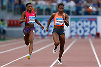 Jeneba TARMOH USA 200m Women Winner <br /> Roma 04-06-2015 Stadio Olimpico<br /> IAAF Diamond League 2015 Rome<br /> Golden Gala Meeting - Track And Field Athletics Meeting<br /> Foto Sebastian Seglingen / ARK / Insidefoto