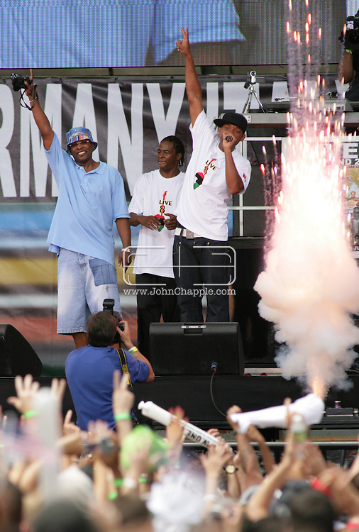 2nd July 2005, Philadelphia, PA. The USA Live 8 concert held in the city of Philadelphia. Pictured onstage is Will Smith. PHOTO © JOHN CHAPPLE IN THE BIG APPLE. Tel (001) 212 397 7287.www.chapple.biz