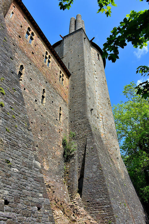Keep Tower at Castell Coch in Tongwynlais, Wales<br />