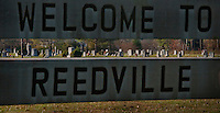 REEDVILLE, VA - DECEMBER 12: An old fishing community along the Chesapeake Bay with a predominantly  retirement age community, Reedville, Virginia, has a large and prominant cemetery as you enter the town, Monday, December 12, 2011. (Photo by Melina Mara/The Washington Post) . ...